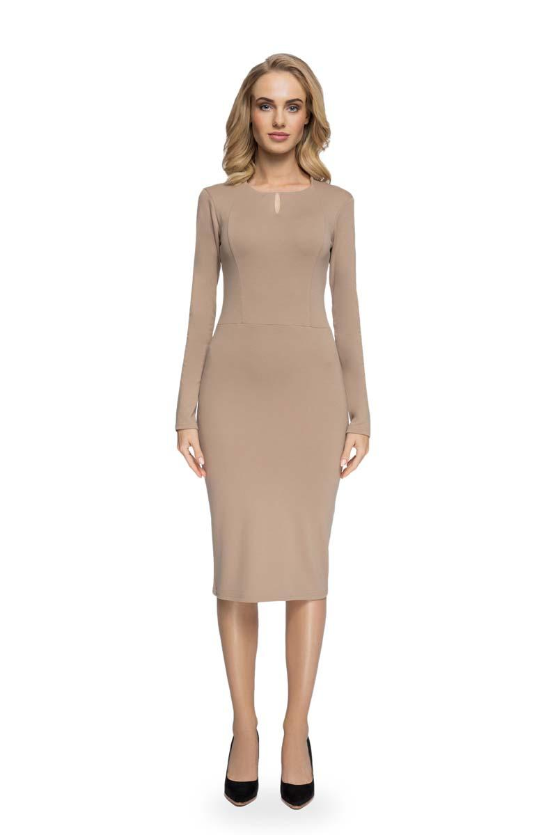 Beige Pencil Slimming Dress