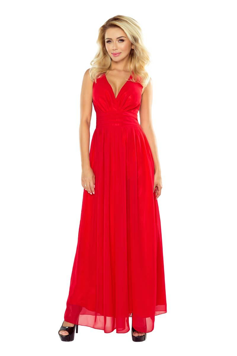 Red Evening Maxi Dress
