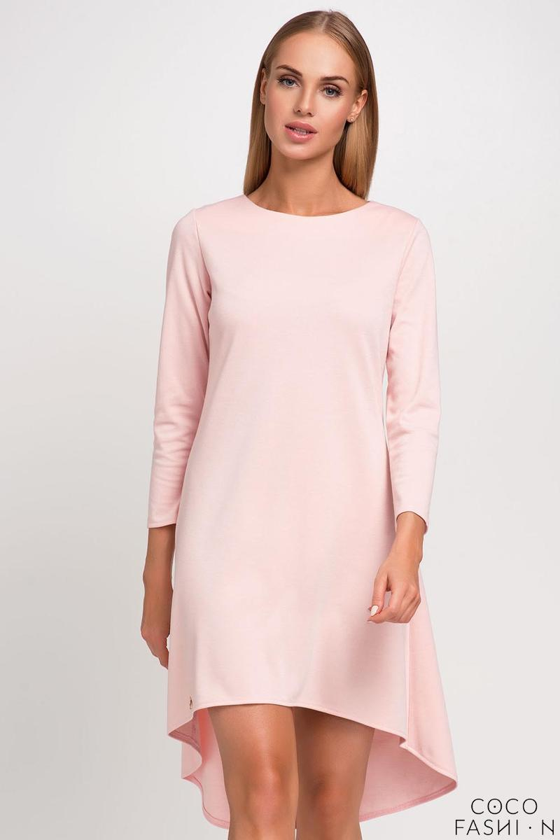 Pink Asymetrical Casual Dress