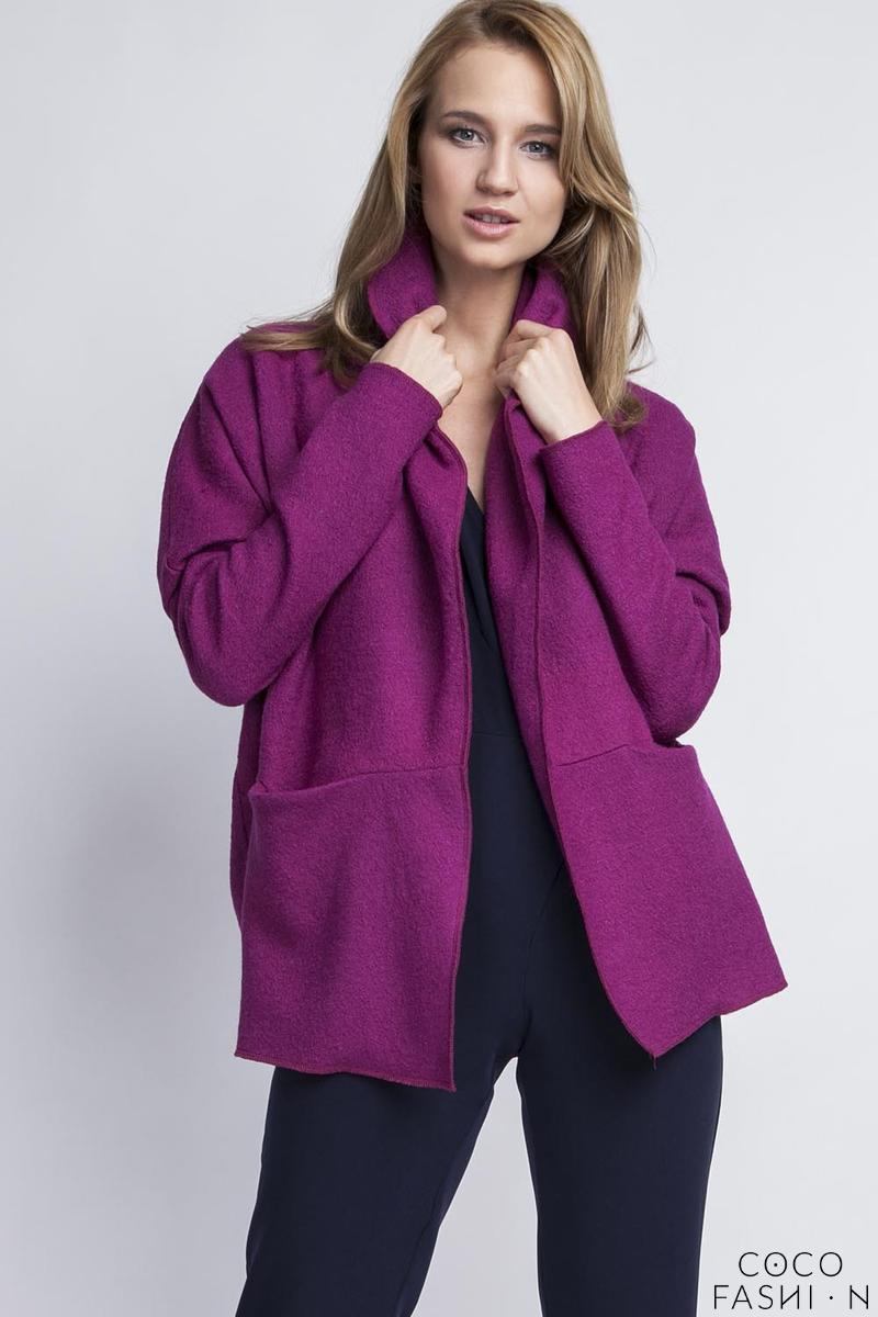 fuchsia-elegant-oversized-office-style-cardigan