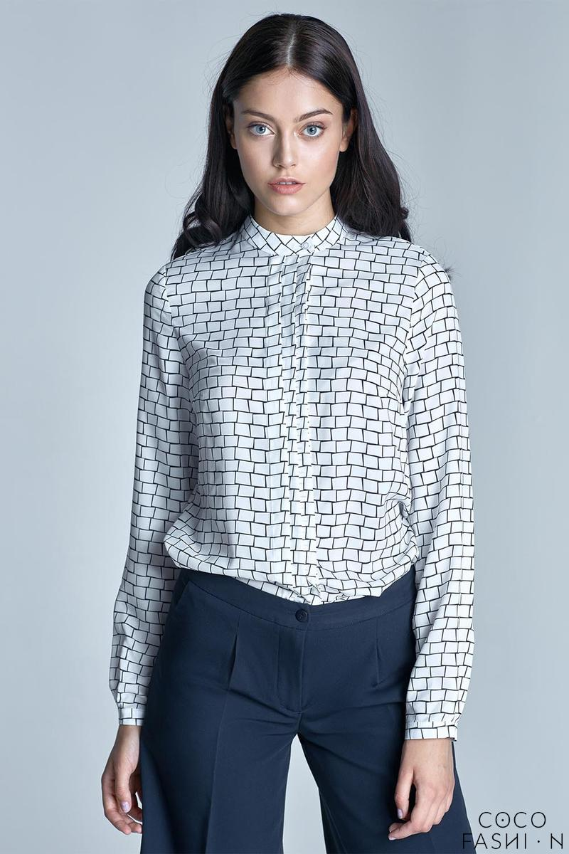 Black&White Long Sleeves Casual Shirt