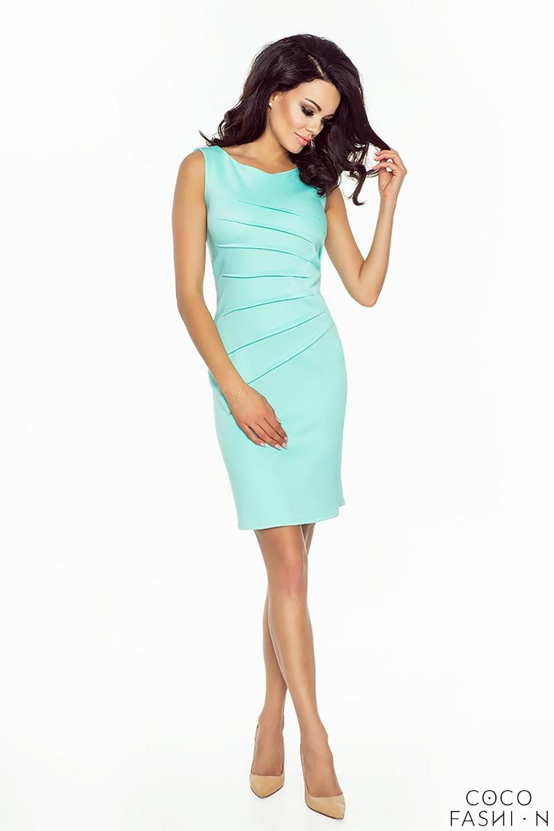 Light Green Classic Fitted&Wrinkled Mini Dress