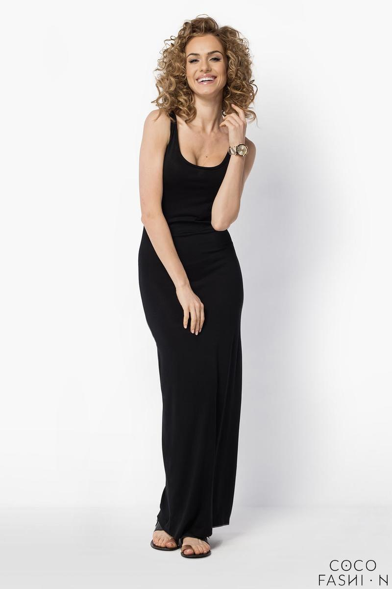 Black Maxi Long Simple Style Dress