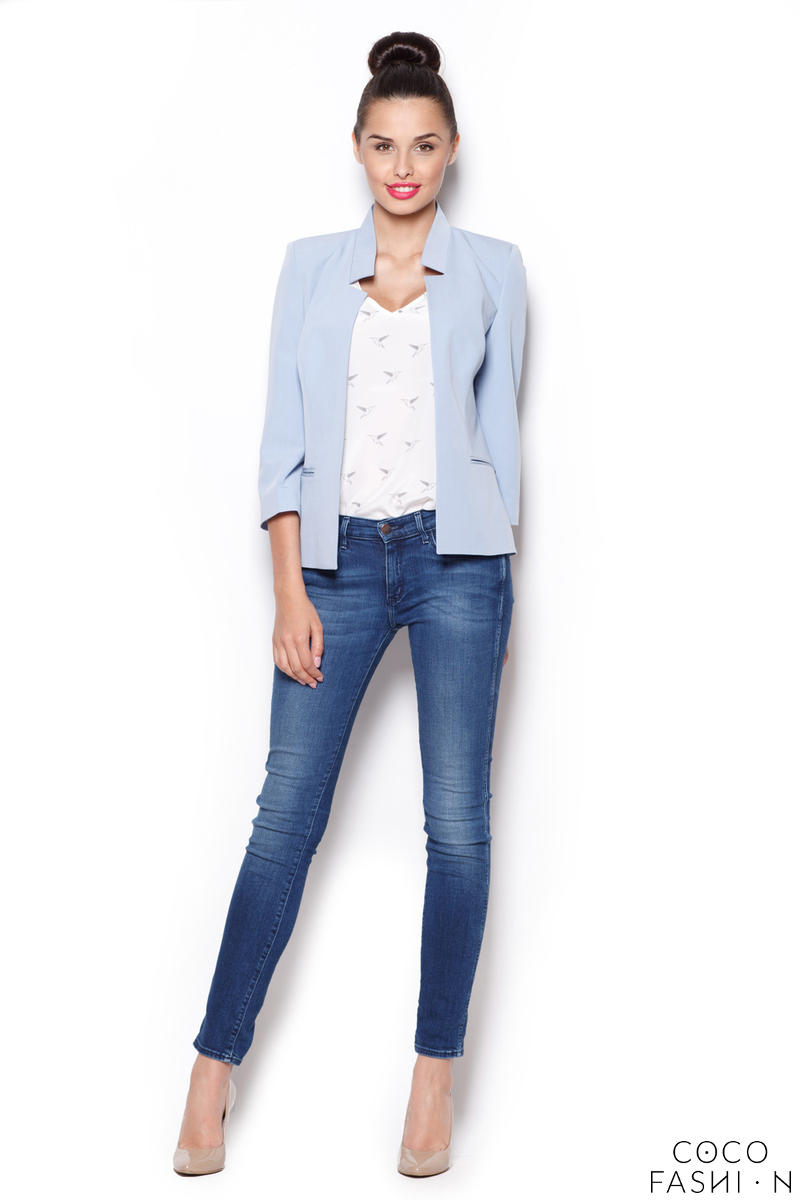 blue-sunny-smart-blazer-with-peacock-collar