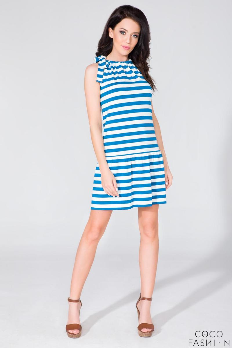 Striped Summer Frilled Dress