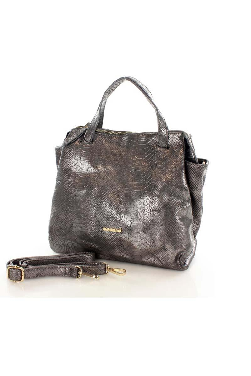 dark-grey-shiny-snake-skin-imitation-bag