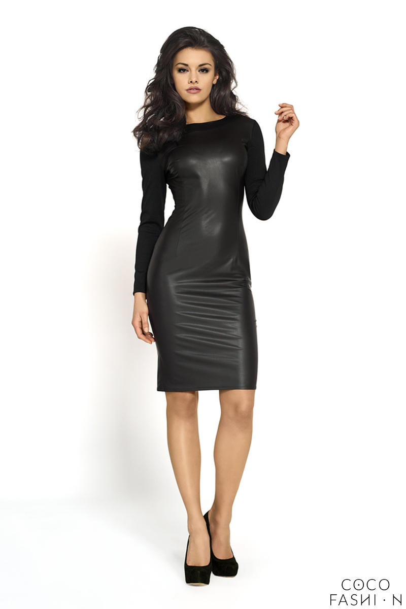 Black Body Fitted Velvety Mysterious Dress