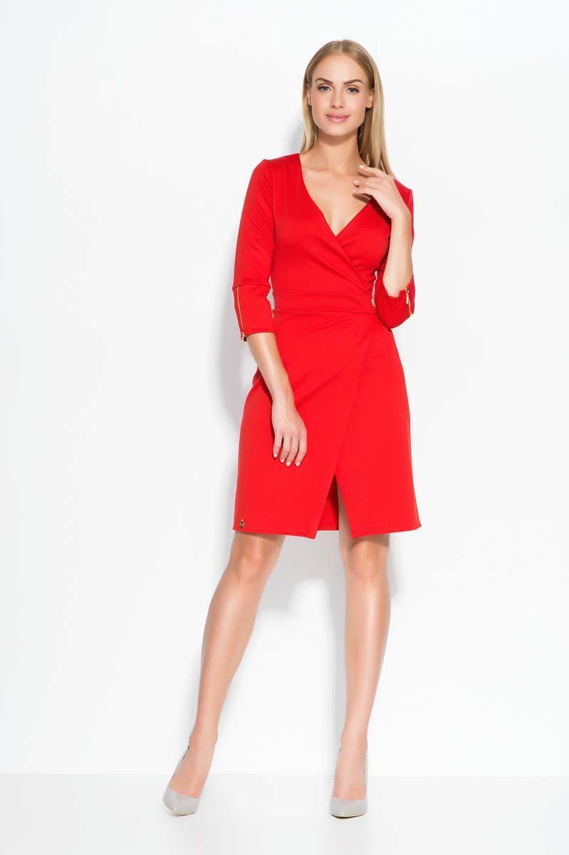 red-deep-v-neckline-dress