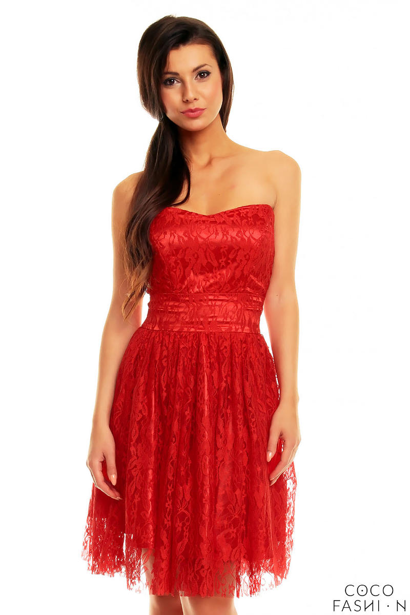 Red Lace Off Shoulders Prom Party Dress от cocofashion