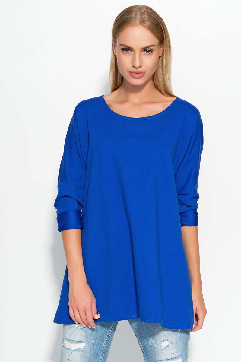 Blue Thin Round Neckline Jumper