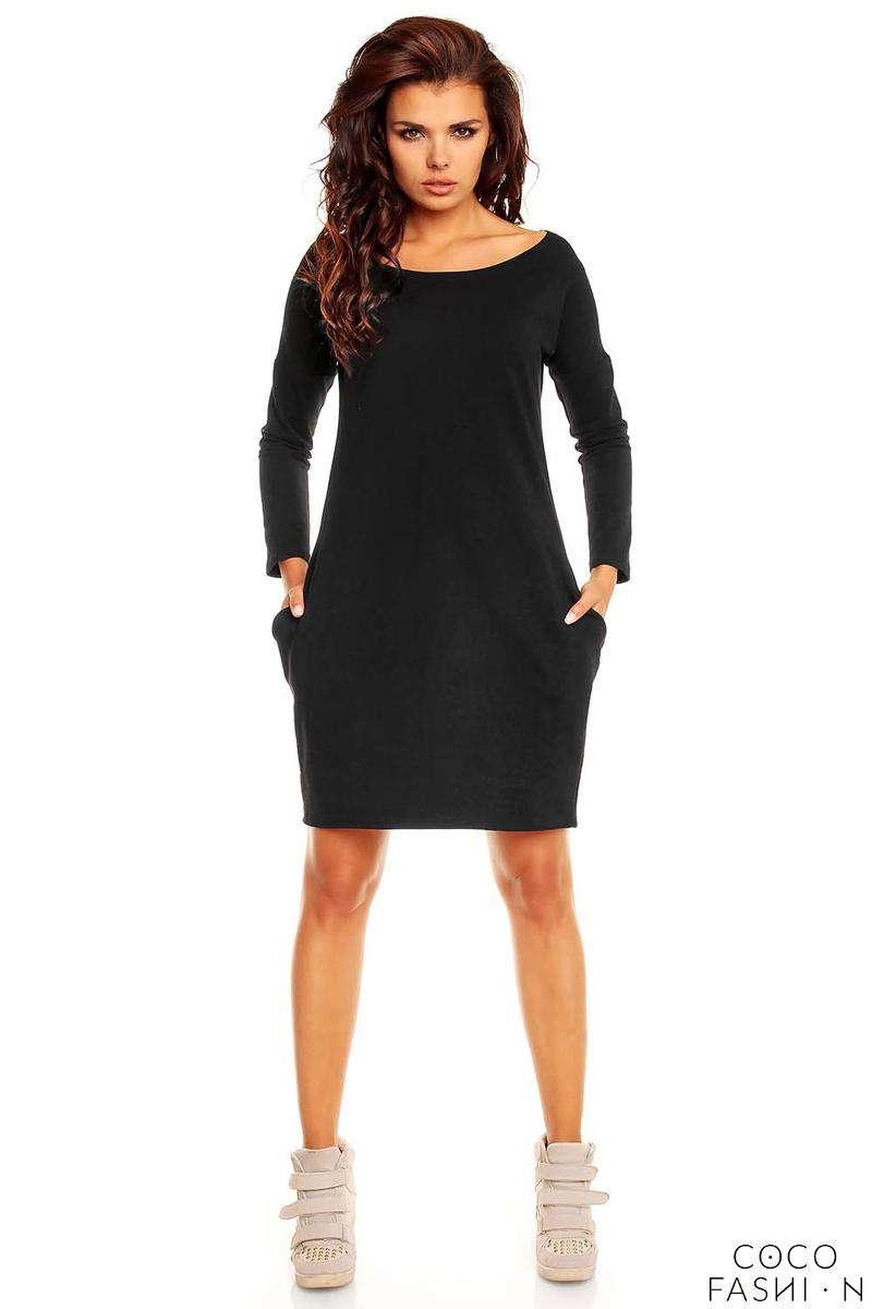 Black Smartly Look Wiggle Long Sleeve Dress