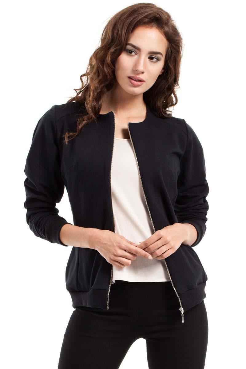 Black Full Zipp Bomber Jacket