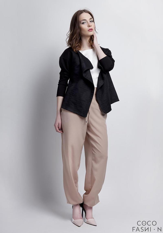 black-unique-style-loose-laps-blazer
