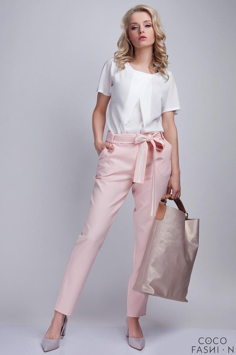 Pink Elegant Pants with Sash