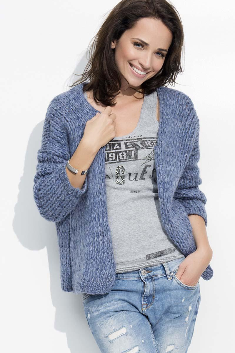 Blue Short Ladies Cardigan