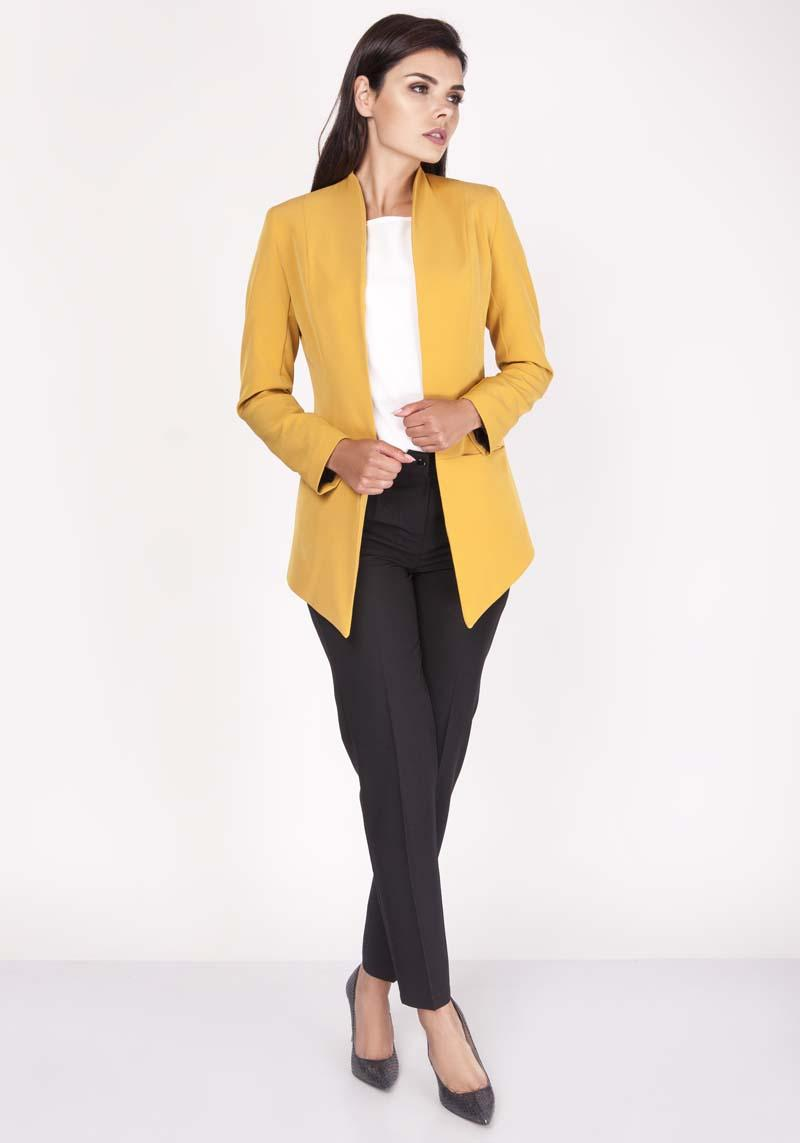 Yellow Blazer Modern Cut No Buttons