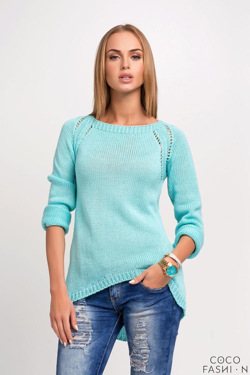Mint Casual Sweter with Longer Back