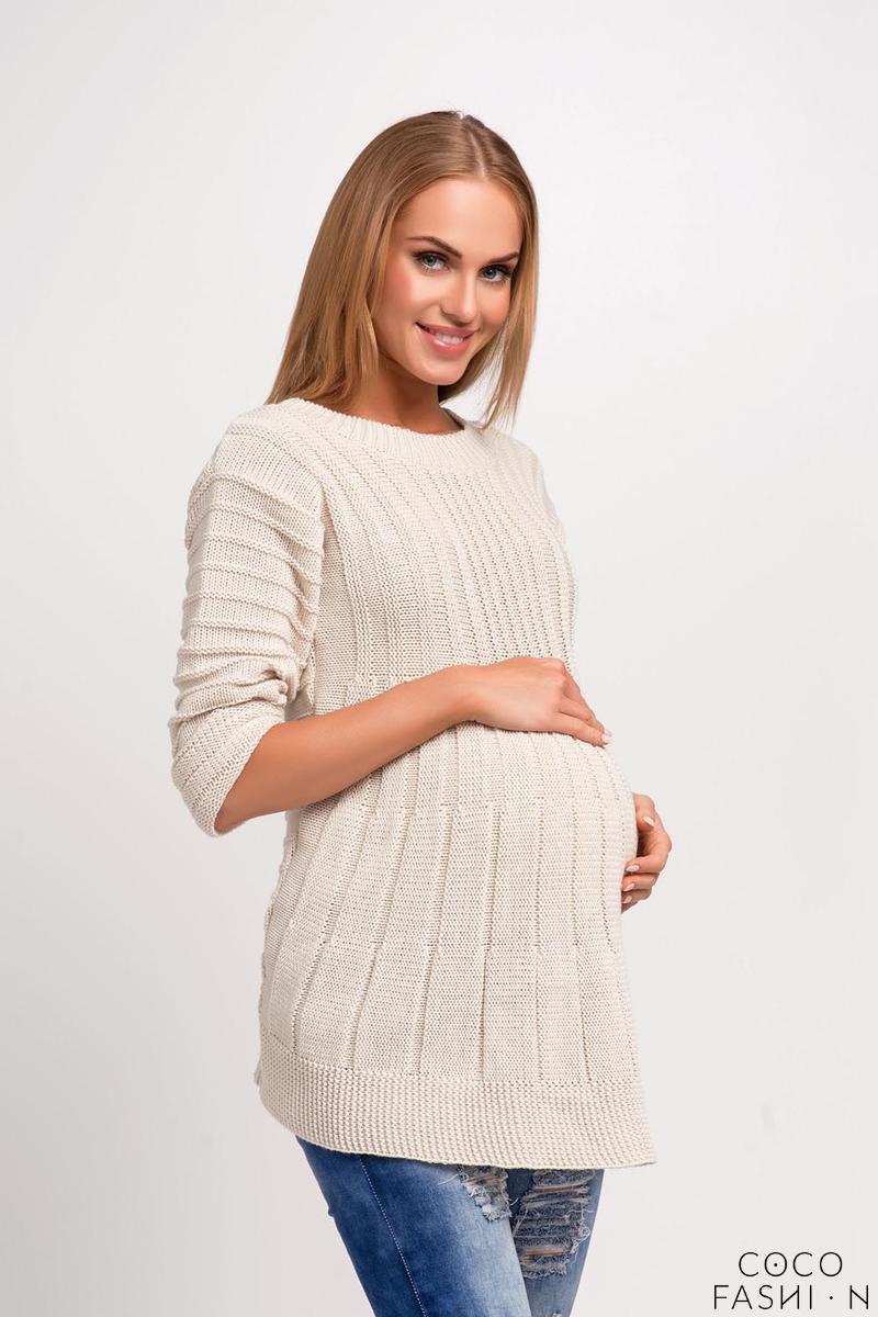 beige-asymmetric-maternity-sweater