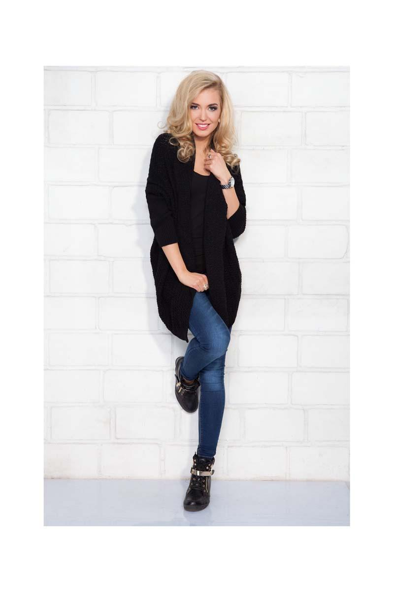 Black Long Stylish Cardigan
