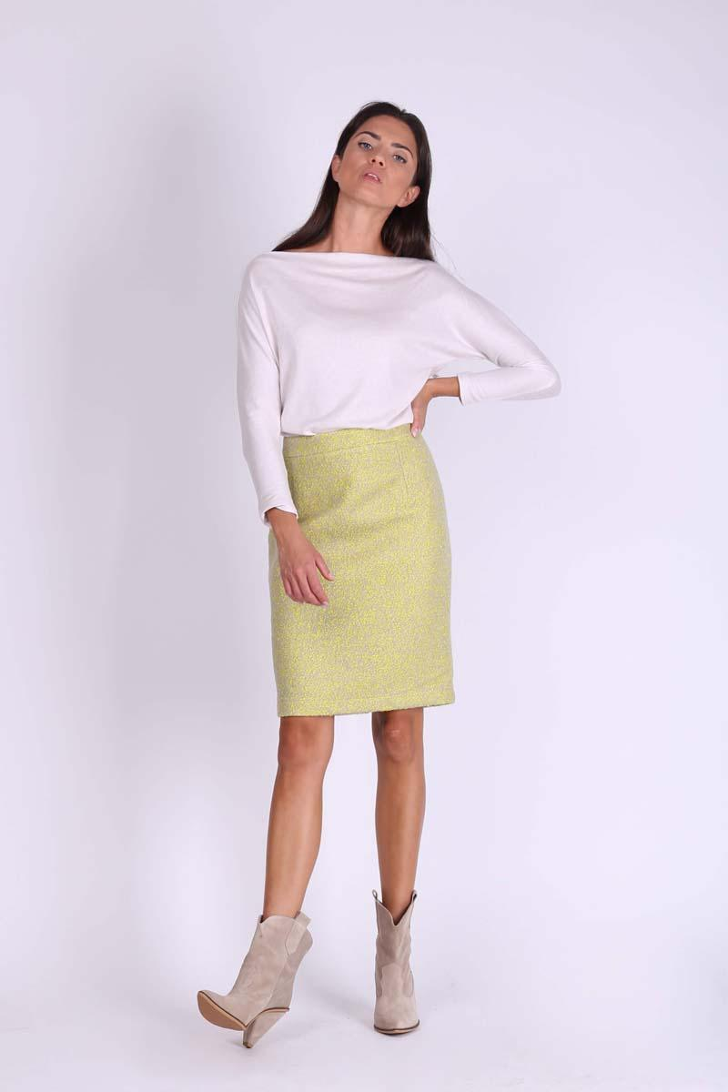 Lime Pencil Midi Skirt from Buckle Fabric