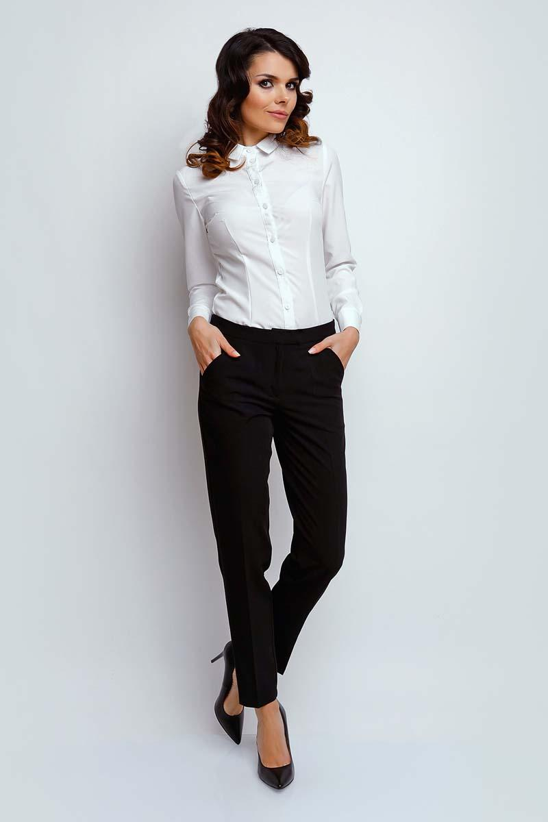 Black Classic Fabric Pants in Kant