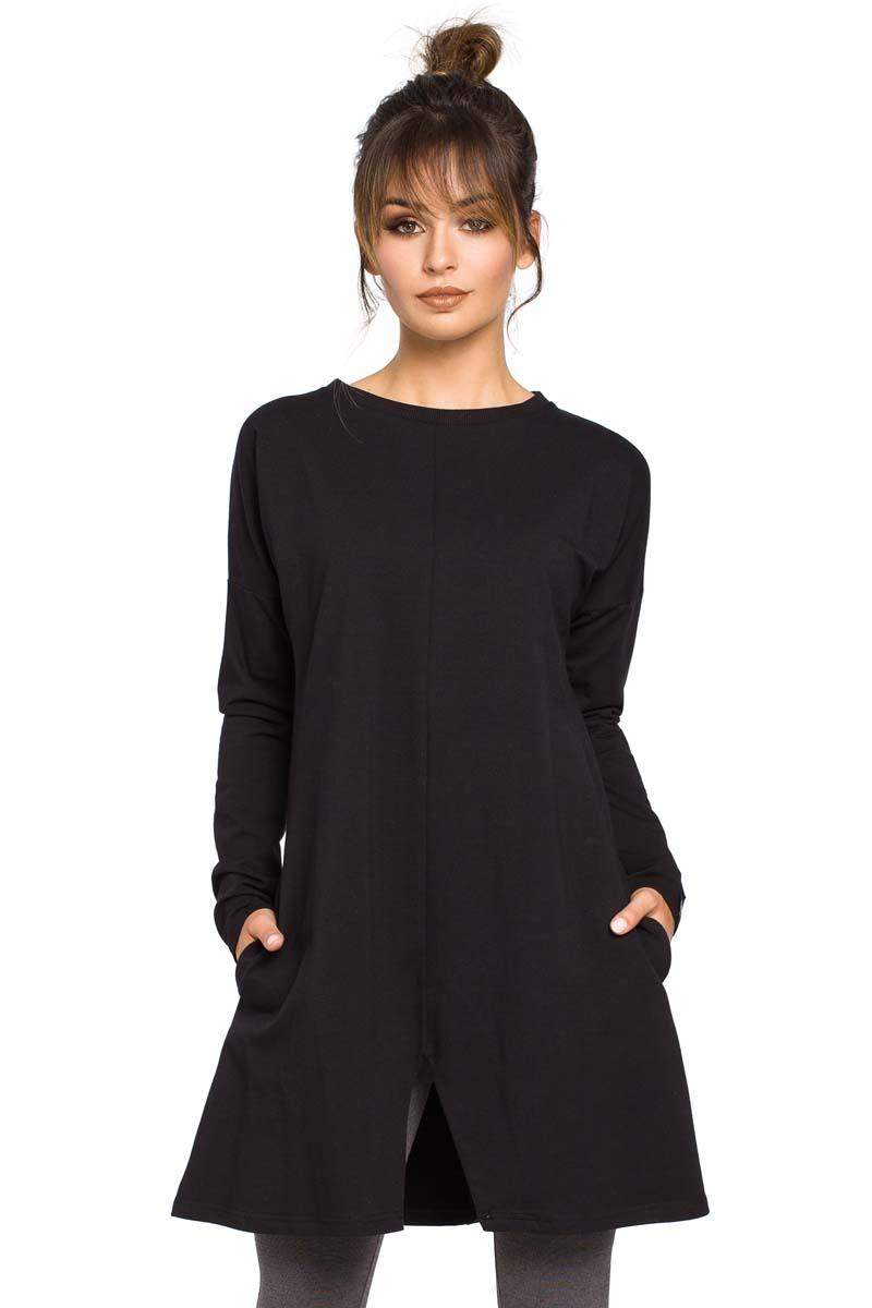 Black Flared Casual Tunic
