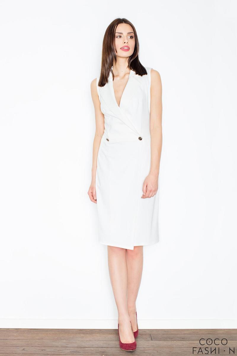 Ecru Knee Lenght Shirt Dress