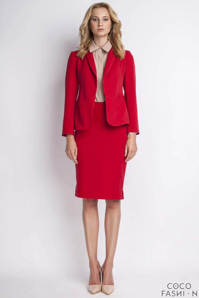 Red Elegant Ladies Blazer