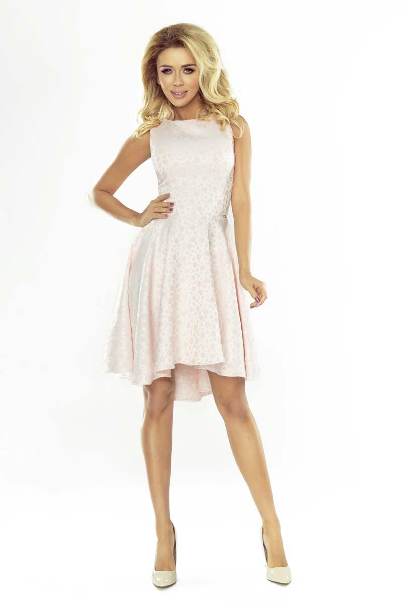 Light Pink Coctail Dress with Dipped Hem