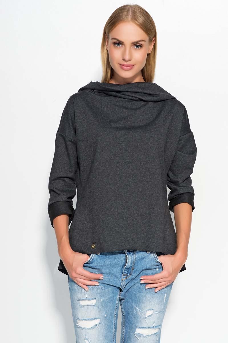Black Hooded Blouse