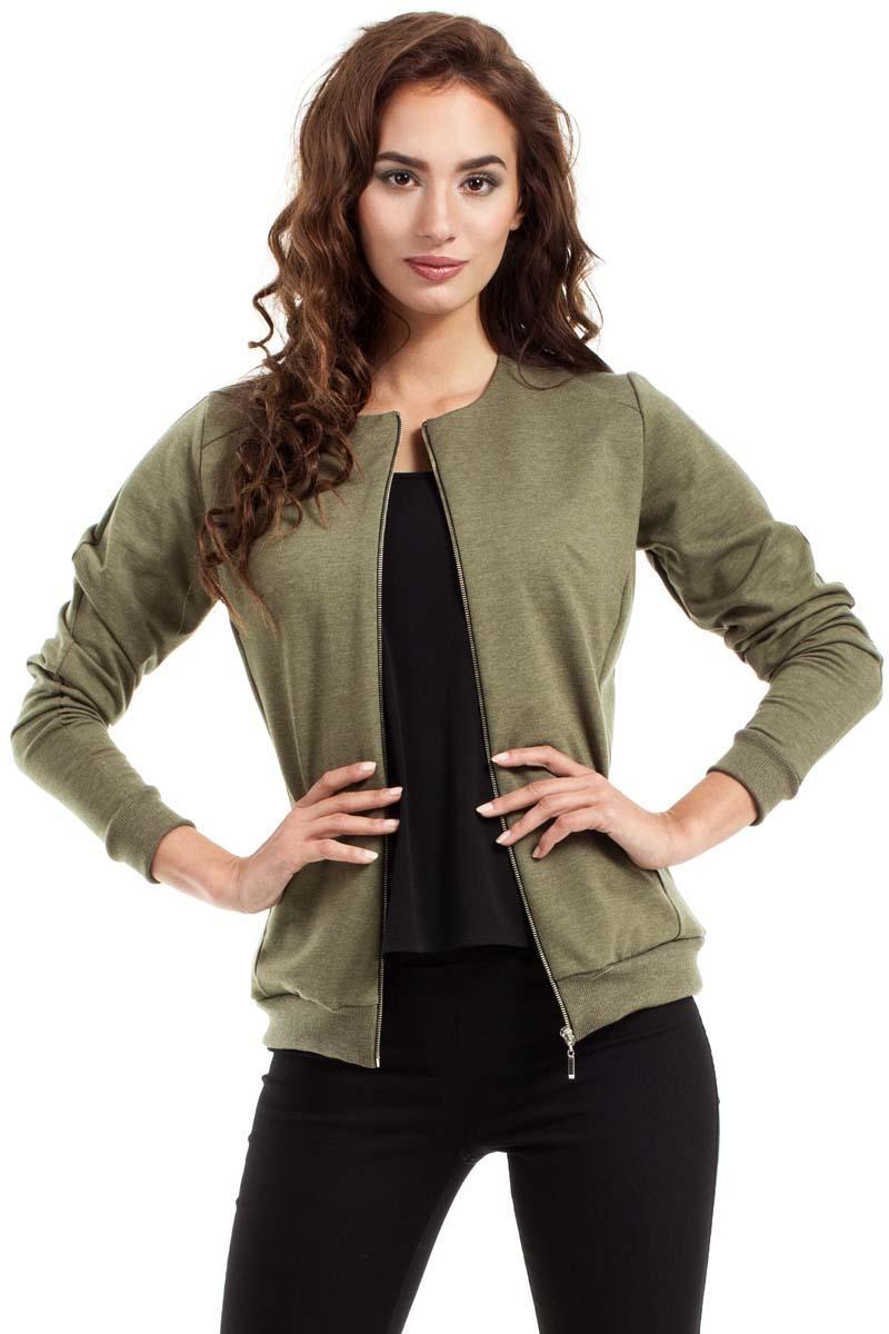 khaki-full-zipp-bomber-jacket