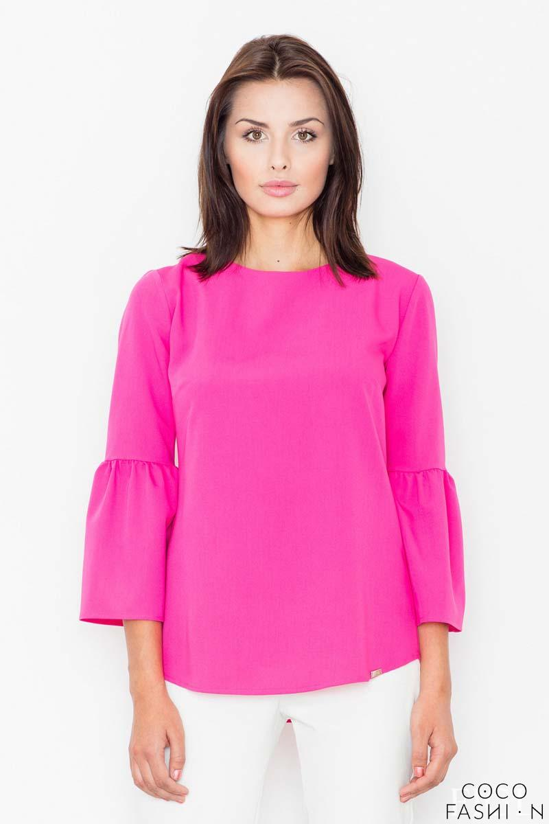 Fuchsia 3/4 Sleeves Blouse