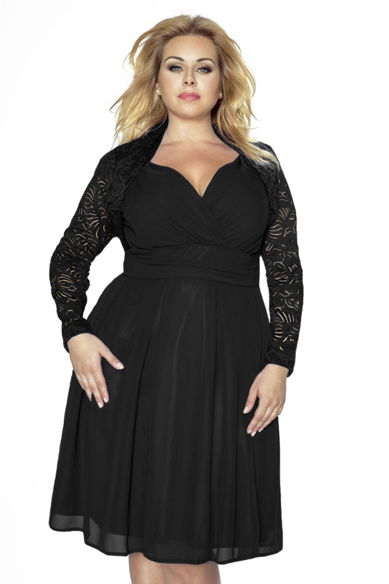 Black Lace Short Bolero Blazer PLUS SIZE
