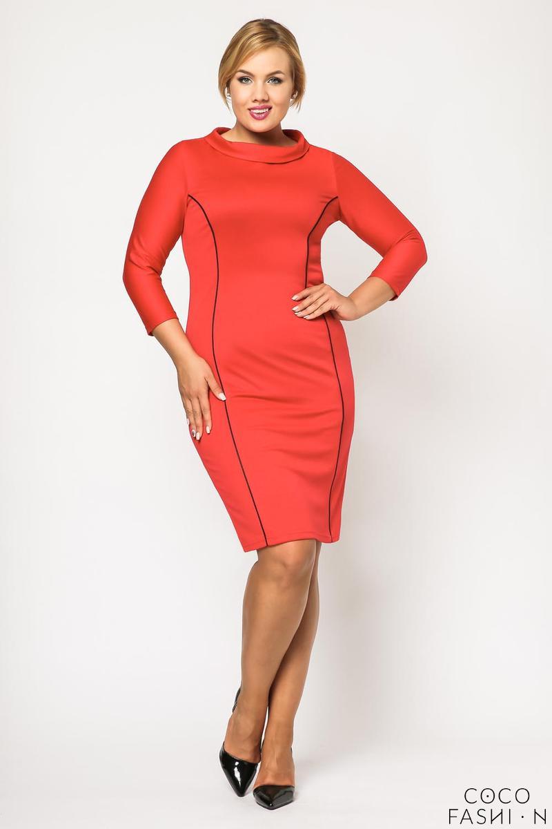 red-elegant-slimming-dress-plus-size