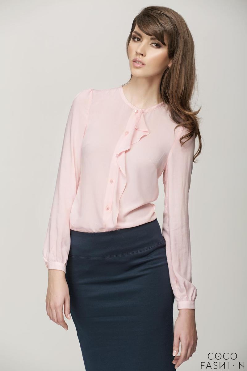 Powder Pink Shirt with a Frill