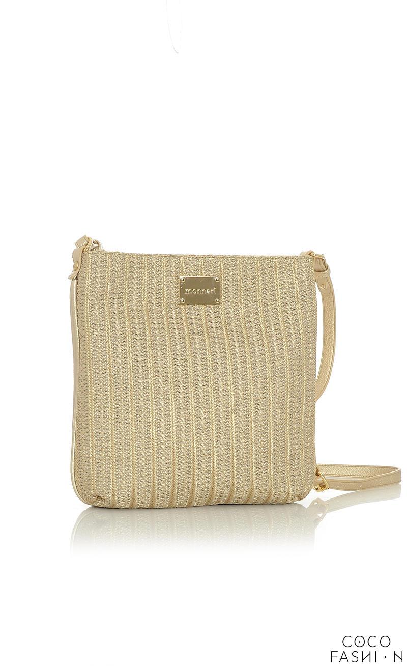 Gold Casual Long Strap Shoulder Bag от cocofashion