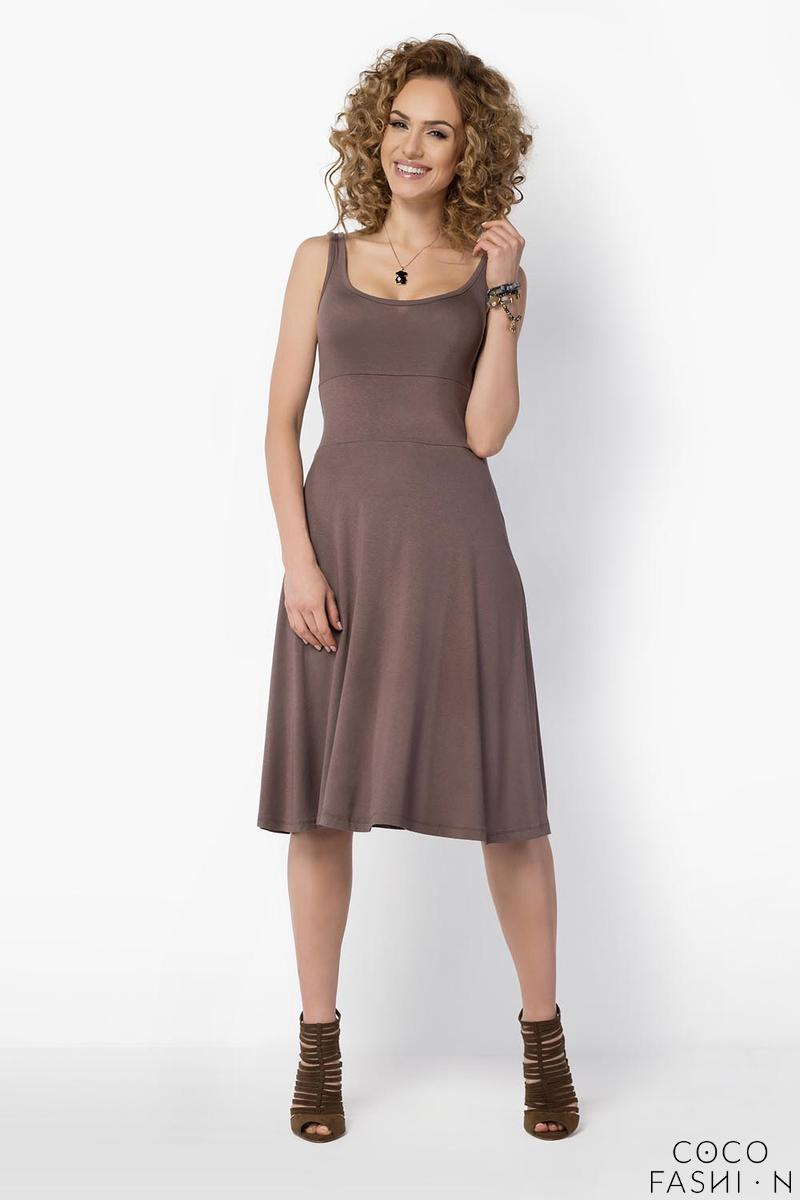 Cappuccino Casual Knee Length Summer Dress