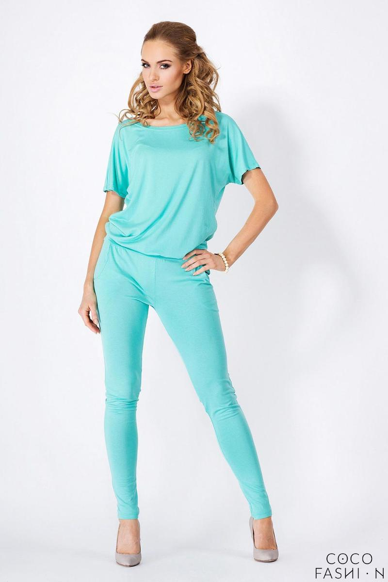 Mint Loose Top and Slim Pants Ladies Jumpsuit