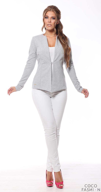 light-grey-classic-slim-waist-blazer