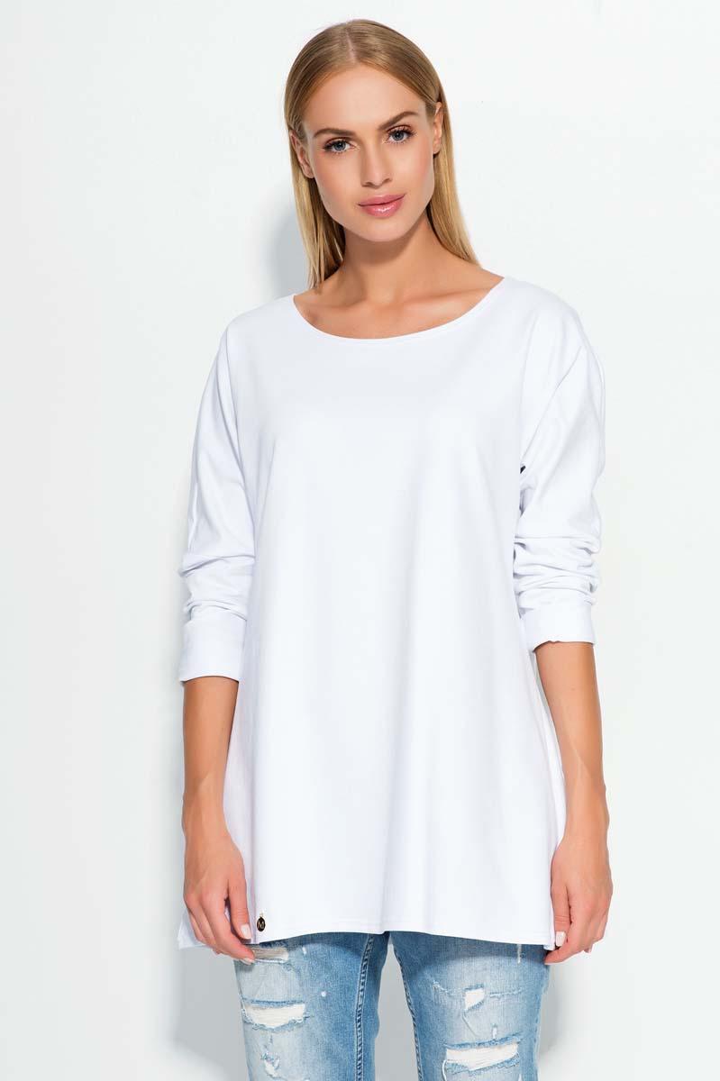 white-thin-round-neckline-jumper