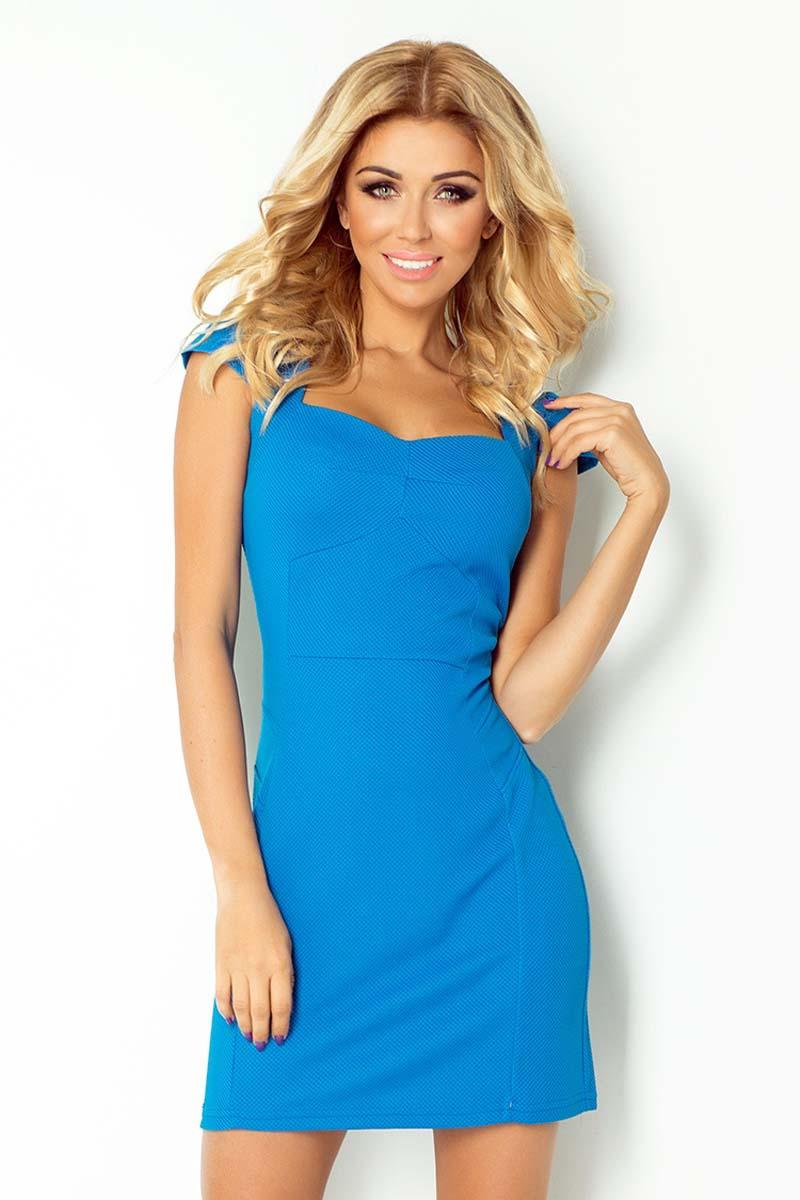 blue-bodycon-fit-heart-neckline-dress
