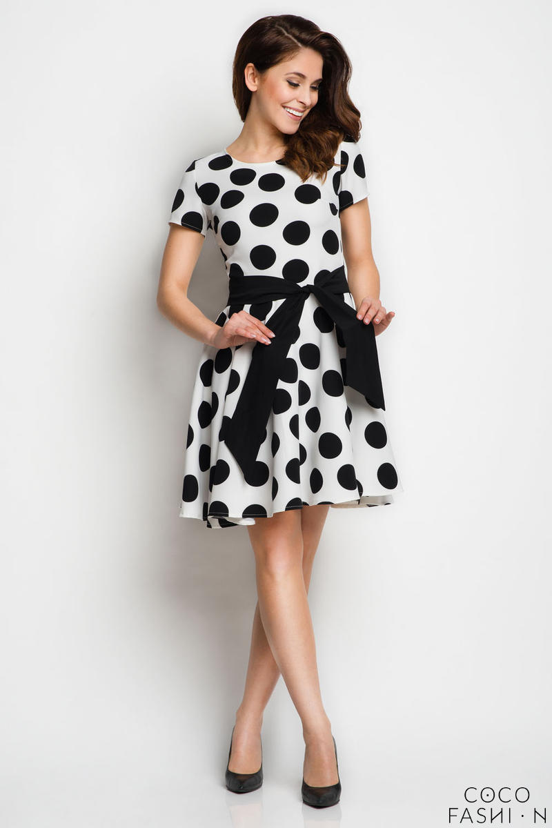 white-polka-dots-dress-with-sash