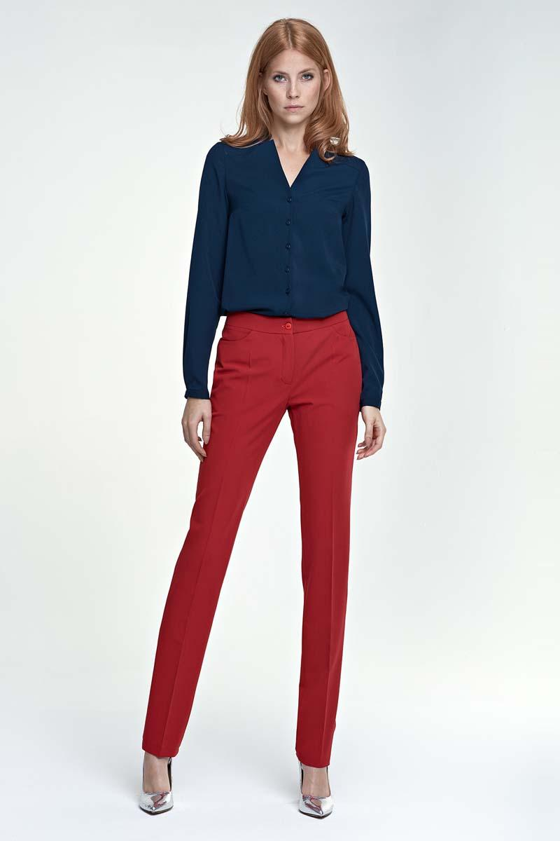 red-elegant-office-style-pants