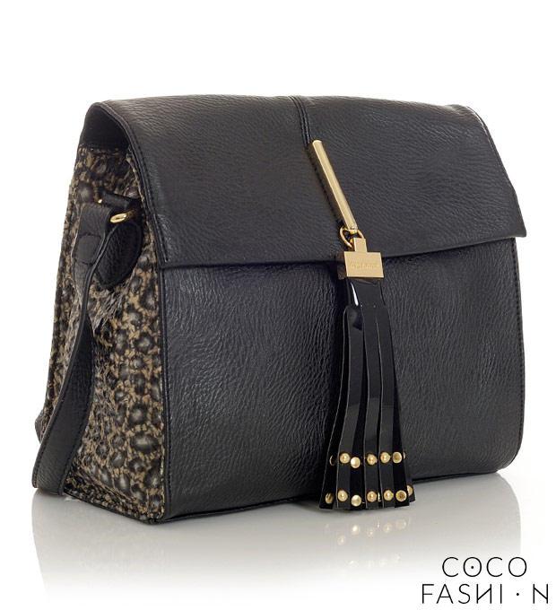 Black&Leopard Ladies Shoulderbag with Fringe от cocofashion