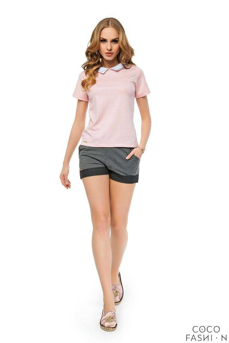 Dark Grey Elastic High Waist Summer Collection Ladies Shorts