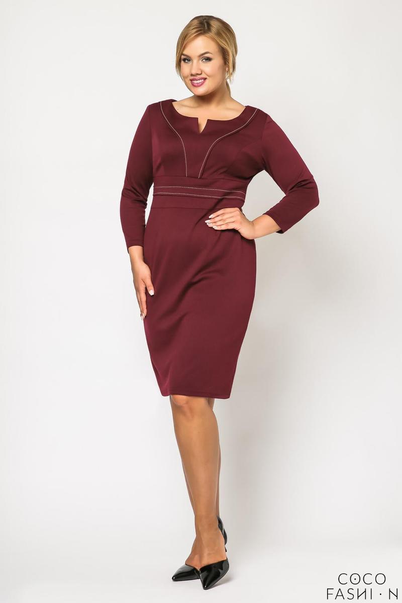 maroon-classic-elegant-midi-dress-plus-size