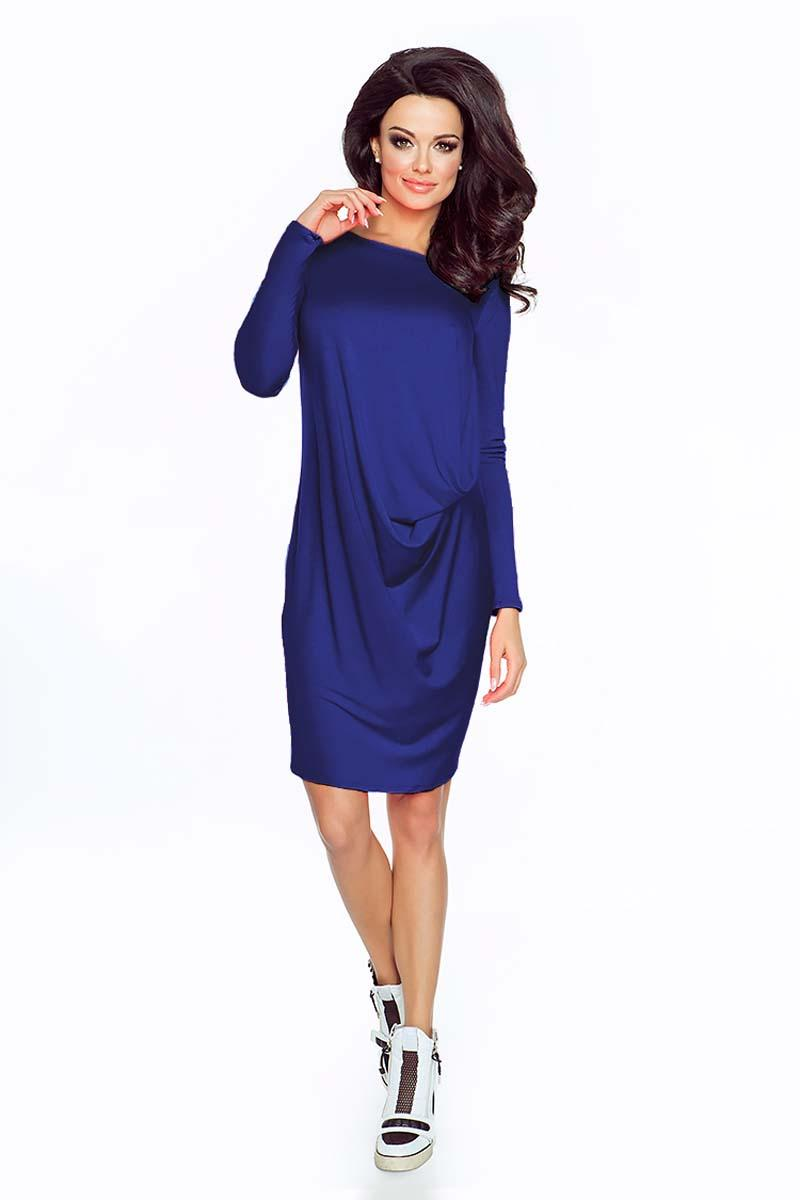 Blue Casual Wrapped Long Sleeves Dress