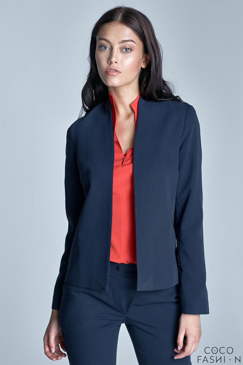 Dark Blue Office Style Ladies Blazer