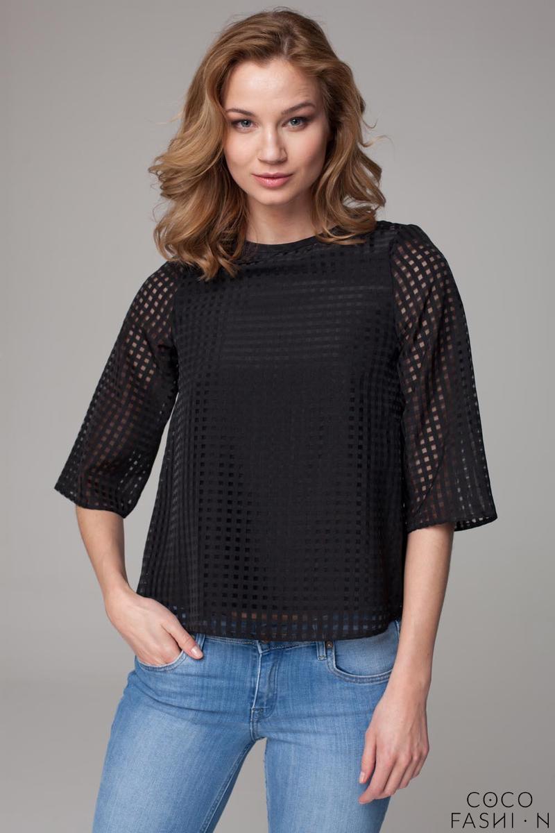 black-ajure-fabric-short-t-shirt