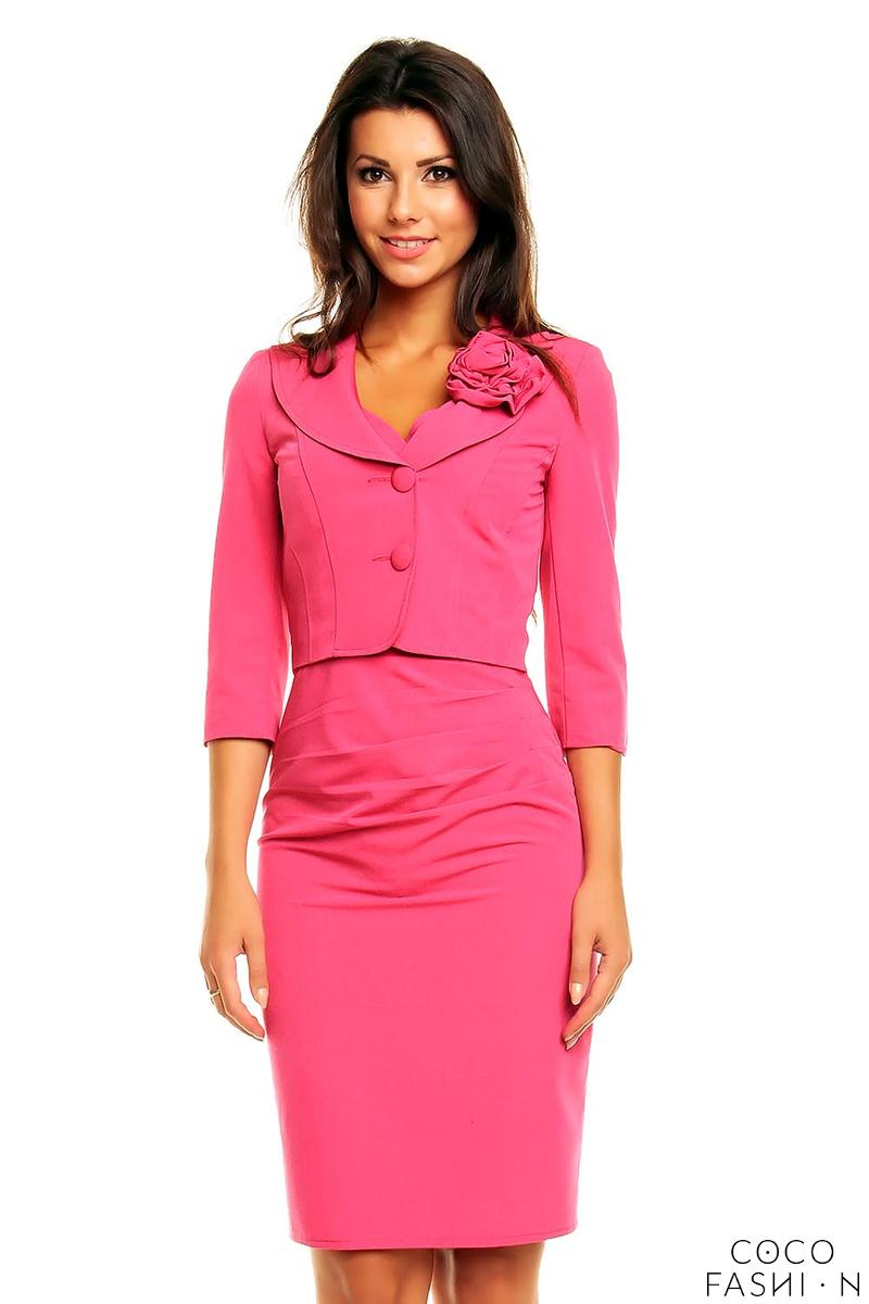 pink-elegant-set-fitted-dress-short-jacket-with-flower